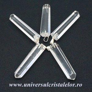 Pandantiv cristal de stanca varf