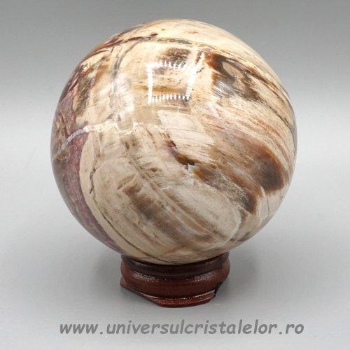 Sfera lemn pietrificat
