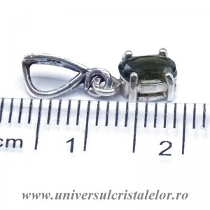 Pandantiv moldavit fatetat oval