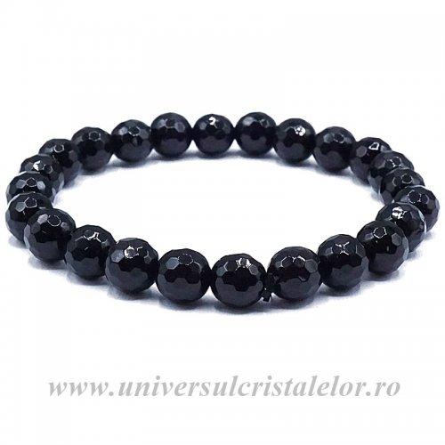 Bratara obsidian negru