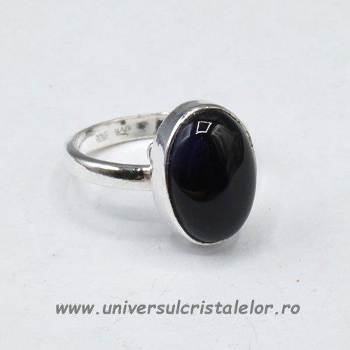 Inel obsidian negru