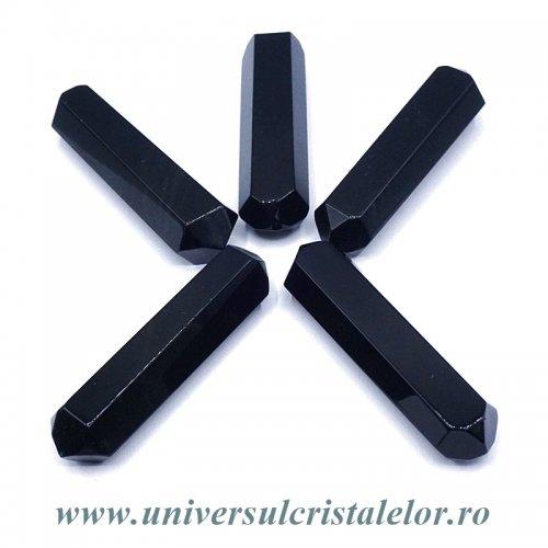 Bagheta Dublu varf obsidian negru