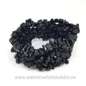 Bratara obsidian negru chipsuri
