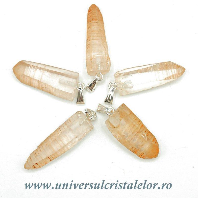 Pandantiv cristal de stanca varf lemurian