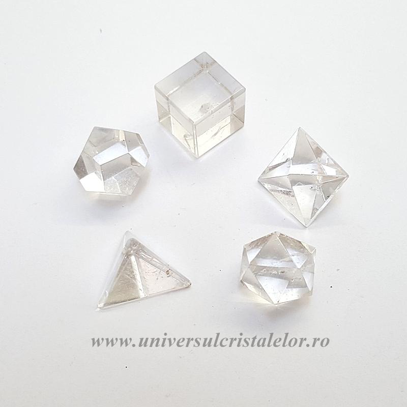 Solide platonice cristal de stanca